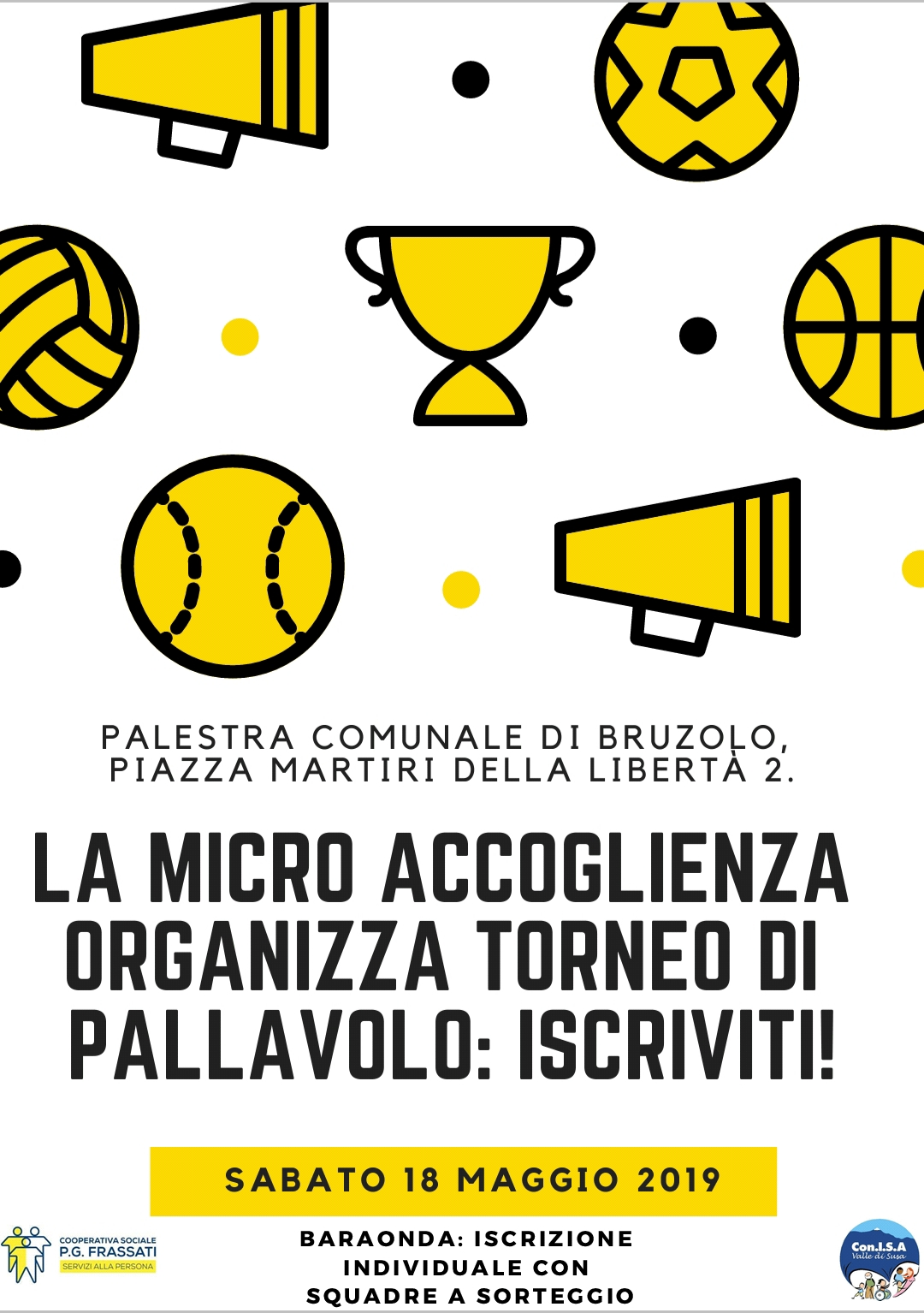 Torneo di pallavolo: un progetto di micro accoglienza diffusa
