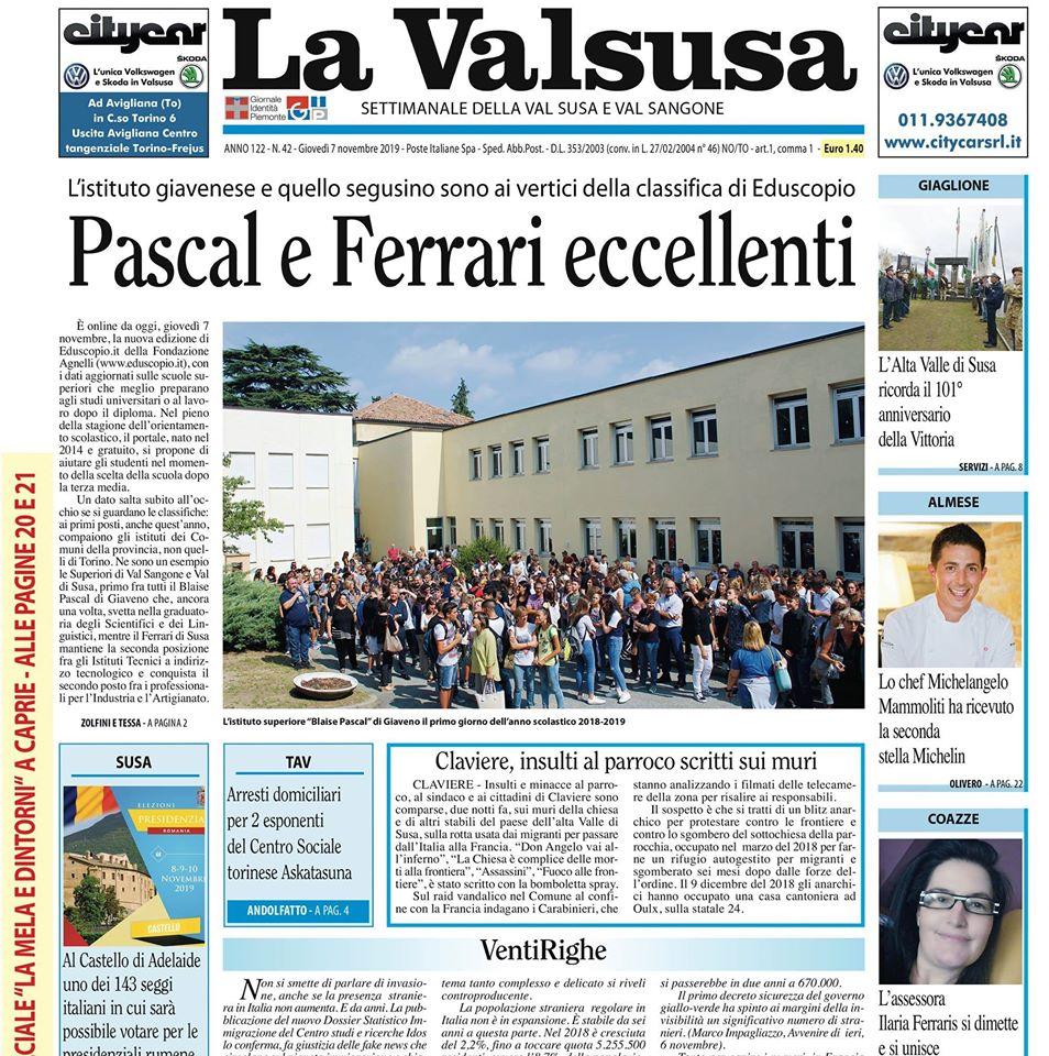 """Appuntamento settimanale con """"La Valsusa"""""""