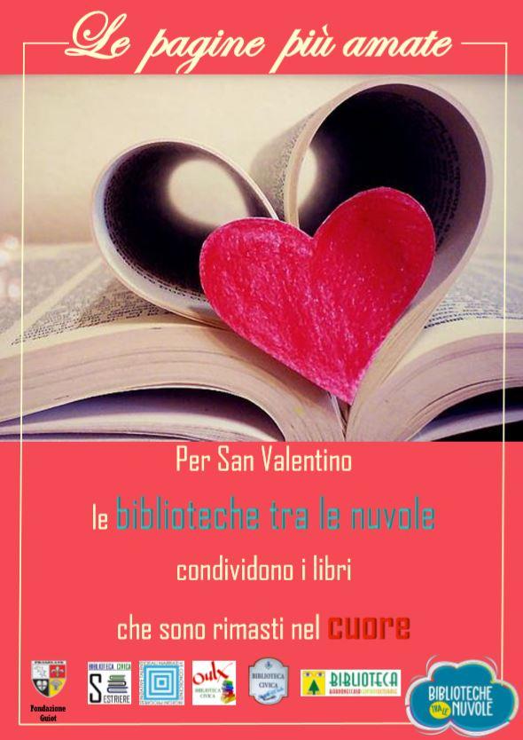 """San Valentino: le Biblioteche tra le nuvole lanciano l'iniziativa """"Le pagine più amate""""."""