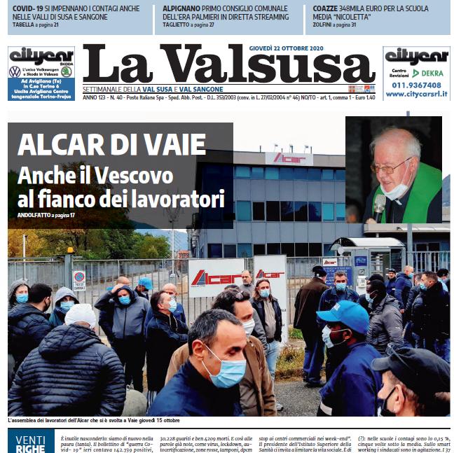 """Giorgio Brezzo: tutte le anticipazioni del settimanale """"La Valsusa"""""""