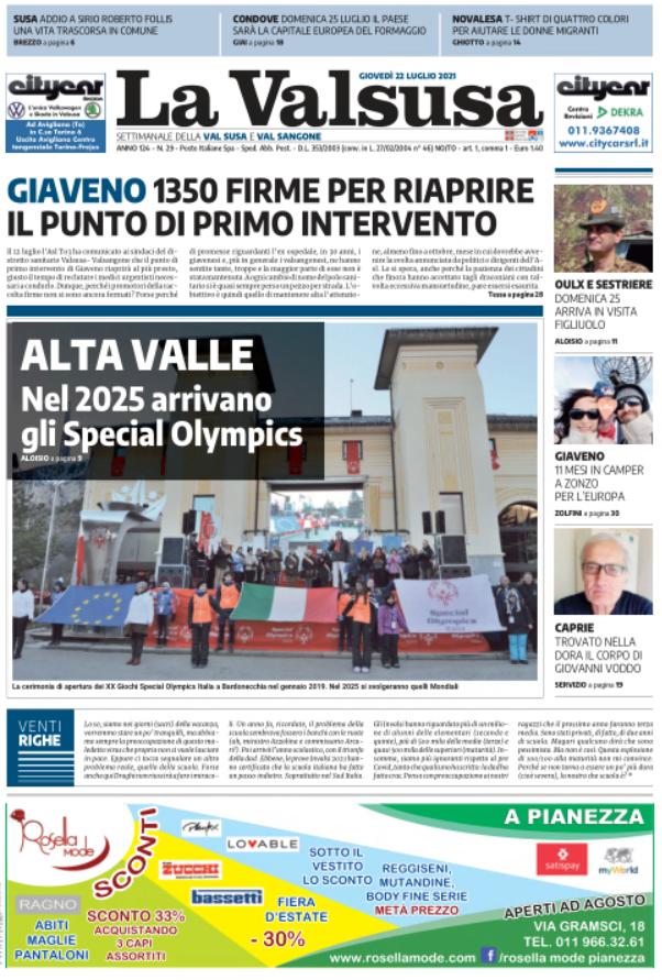 """""""La Valsusa in diretta"""": anticipazioni a cura del caporedattore Giorgio Brezzo"""