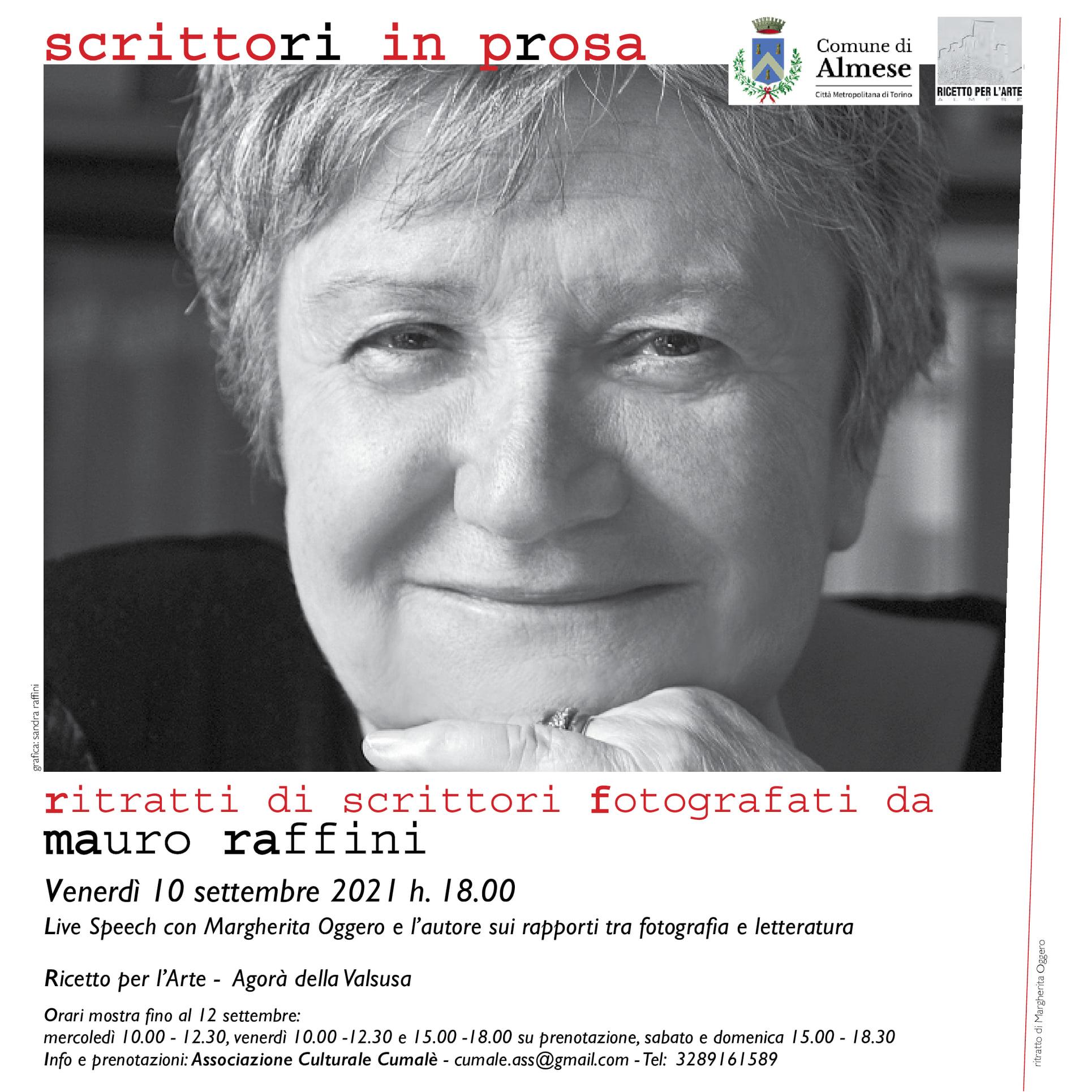 Stasera al Ricetto per l'arte di Almese aperitivo letterario con Margherita Oggero e Mauro Raffini